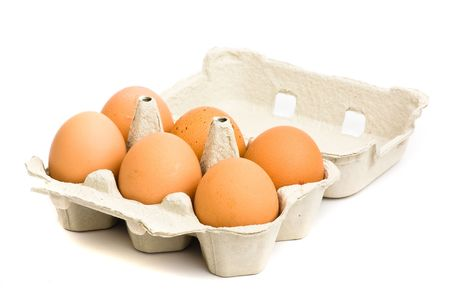 egg box: eggs carton isolated