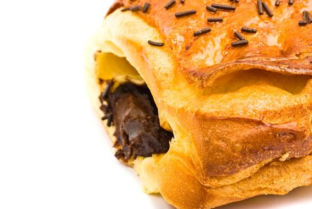 croissant filled with chocolate photo
