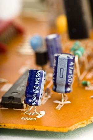 motherboard closeup photo