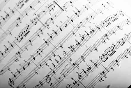 music sheet Stock Photo - 8270730