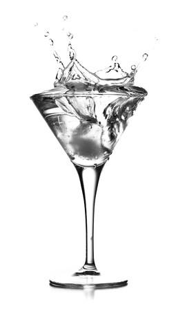 Cocktail splashing photo