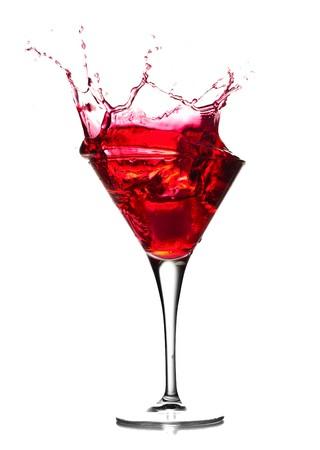 copa martini: Salpicaduras de c�ctel  Foto de archivo