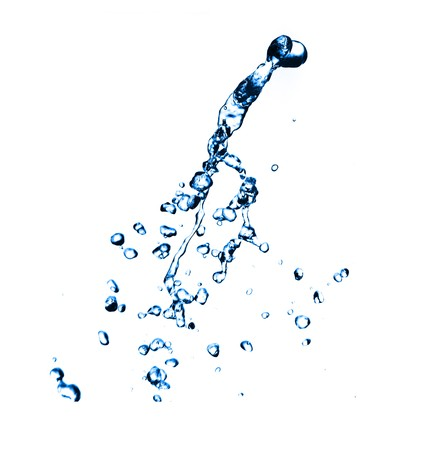 Fresh water splash on white background. Stock Photo - 7714699
