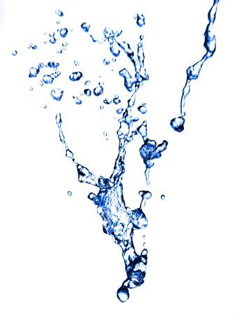 Fresh water splash on white background. Stock Photo - 7714696