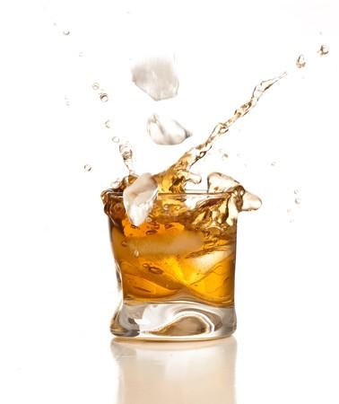 bourbon: whiskey splash Stock Photo