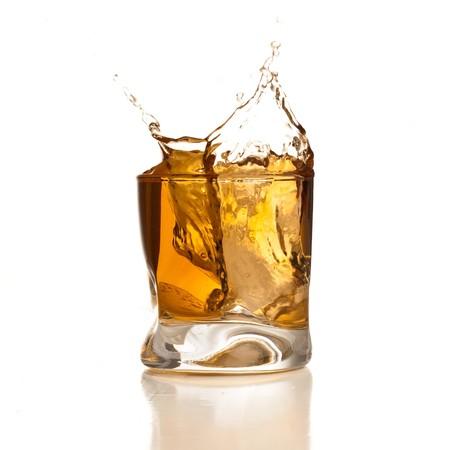 alcoholic: whiskey splash Stock Photo
