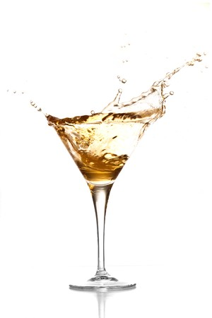 martini glass: cocktail splash