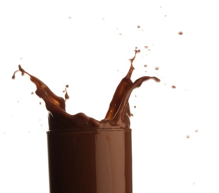 chocolate shake splash photo