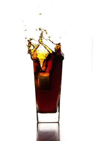 beverage splash photo