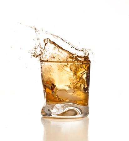 whiskey splash Stock Photo - 7892246