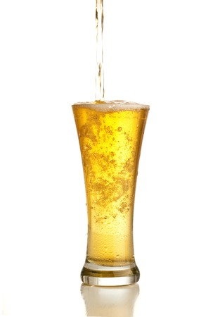 beer pint: beer splash Stock Photo