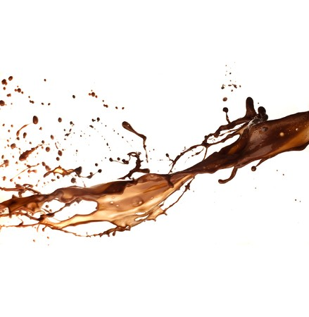 melted chocolate: chocolate splash