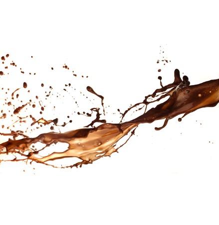 fondu: splash chocolat  Banque d'images