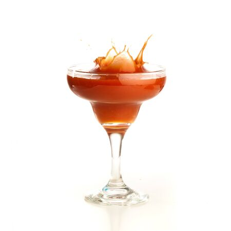 tomato cocktail: pomodoro cocktail splash  Archivio Fotografico