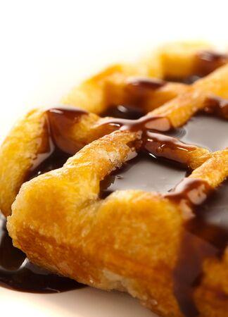 waffles: waffle chocolate  Foto de archivo