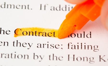contrato Foto de archivo - 7892848