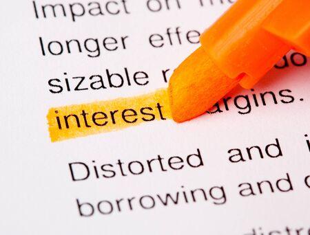 white interest rate: interest