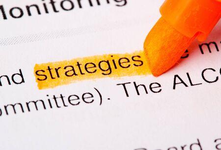 strategies word photo