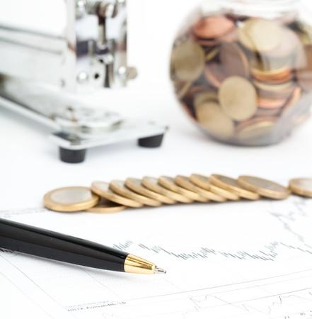 euro-munten en grafiek