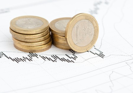 euro coins and graph photo