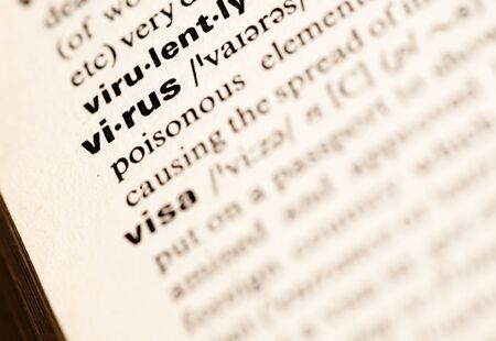 virus word Stock Photo - 7982686