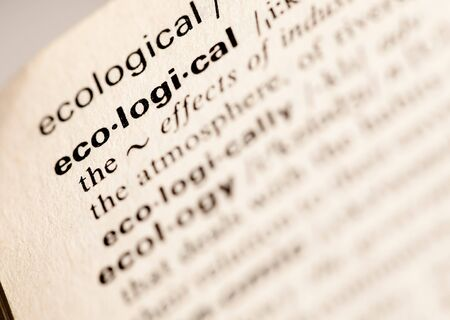 ecological word Stock Photo - 7982709