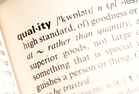 good quality: quality word Stock Photo