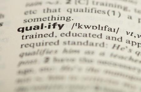 qualify: qualify word