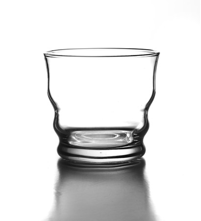 luxury glass isolated on a white background photo
