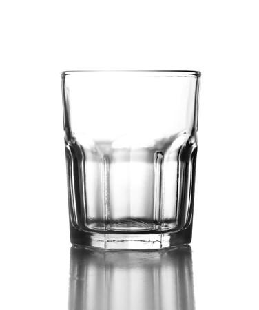 Elegant glass isolated on a white background photo