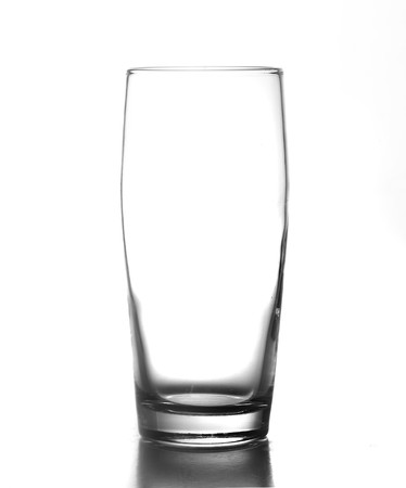 a jar stand: Elegant glass isolated on a white background