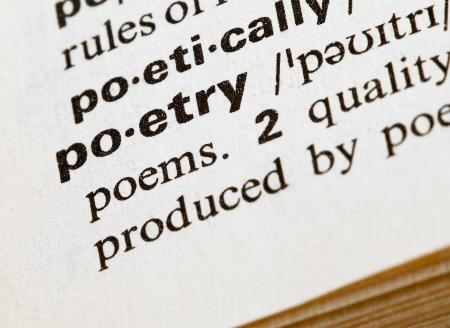 poetry word Stock Photo - 7982684