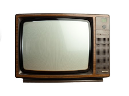 retro tv: antique tv Stock Photo