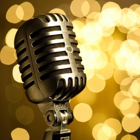 microfono antiguo: micr�fono Vintage