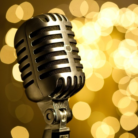 radio microphone: vintage microphone