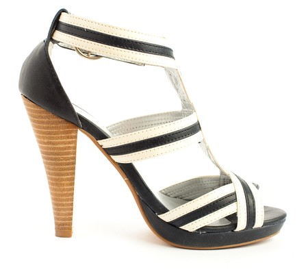 high heeled: high heeled shoe