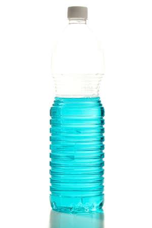 plastic bottle reflection isolated on white background Stock Photo - 8073254