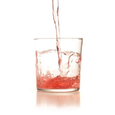 cocktail splash isolated on white background Stock Photo - 8158803