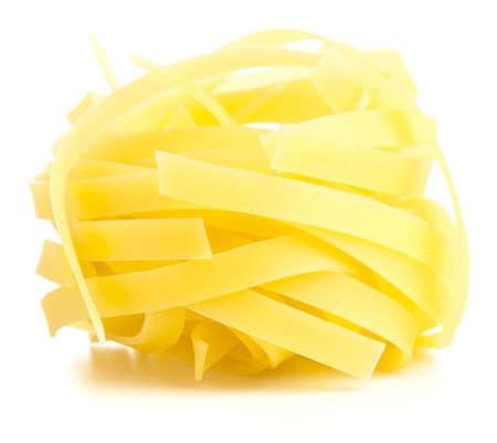 fresh pasta isolated on a white background photo