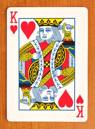 king and queen of hearts: poker cards