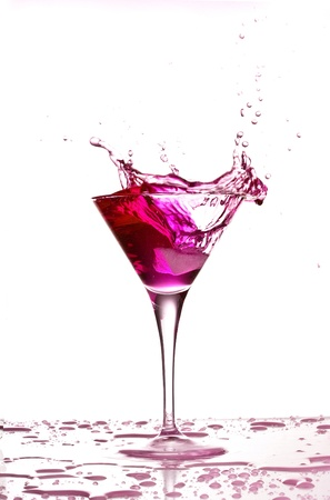cocktail splash isolated on a white background photo