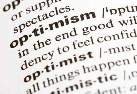 楽観: 楽観主義 写真素材