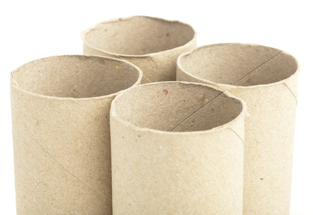 paper rolls isolated on a white background photo