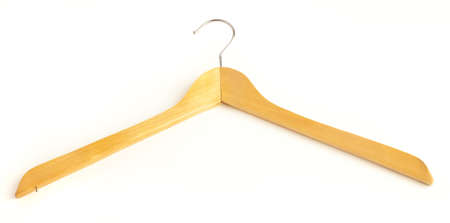 wooden hanger isolated on a white background Stock Photo - 8228943