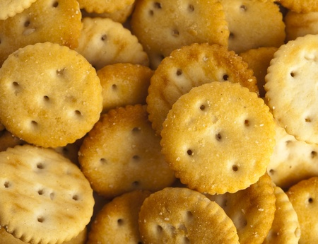 extreme closeup of a salted cookies stack Stock Photo - 8326643