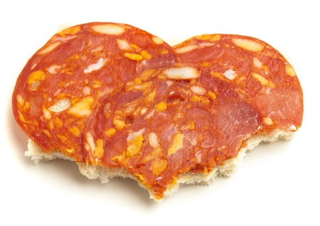 spanish chorizo lunch on a sandwich bread Stock Photo - 8327086