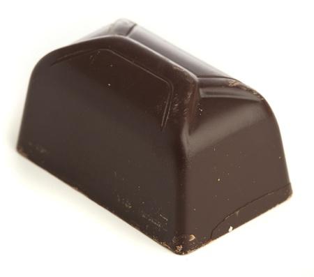 dark chocolate isolated on a white background photo