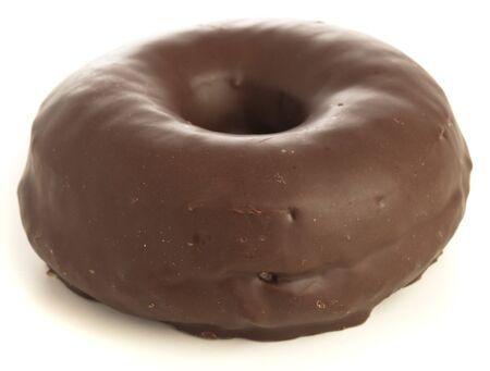 chocolate donuts isolated on a white background photo