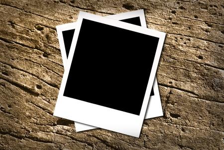 white polaroids: photos Stock Photo