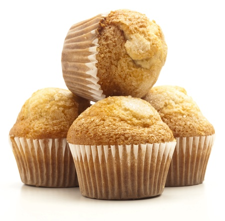 sugary muffins isolated on a white background photo